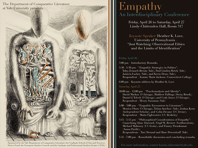 conference poster for interdisciplinary conference on empathy